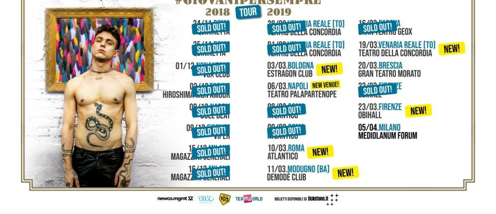 Irama aggiunge nuove date al tour: eccole tutte