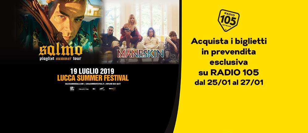 I Måneskin e Salmo si aggiungono al programma del Lucca Summer Festival. I biglietti in prevendita esclusiva su Radio 105