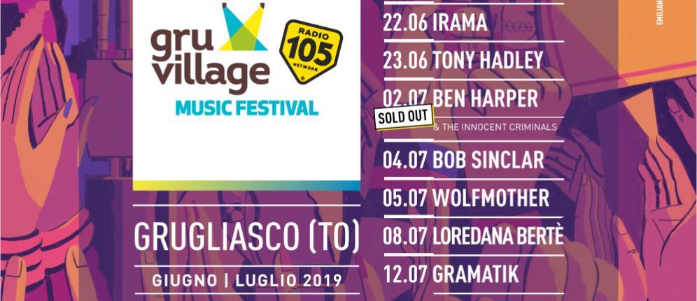 GruVillage 105 Music Festival: Irama si aggiunge alla line up