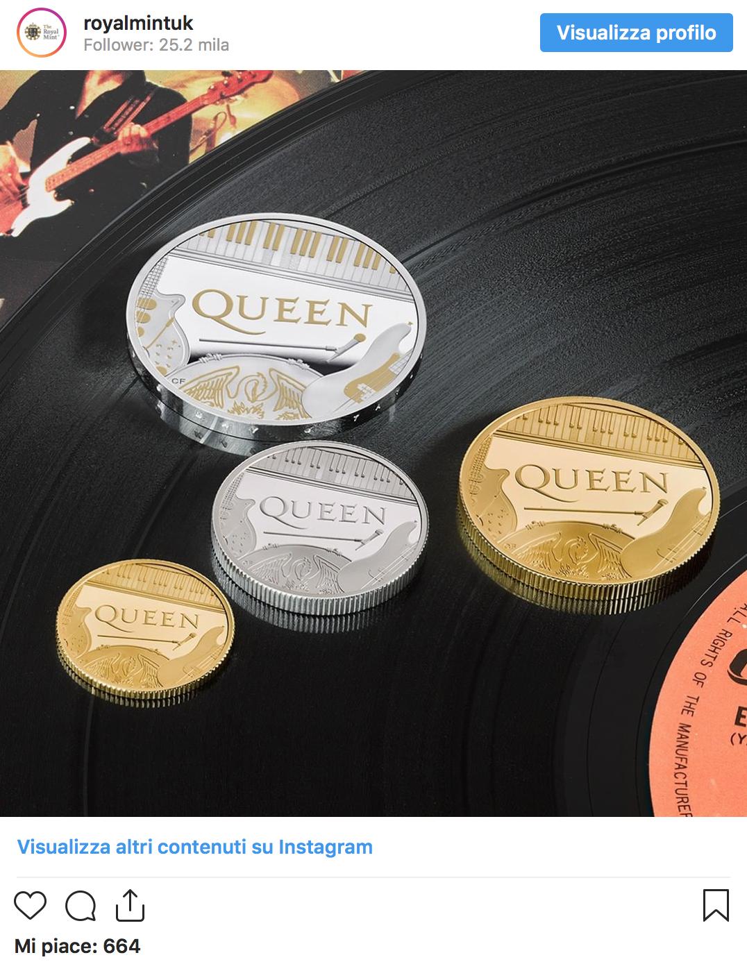Regno Unito, la Regina e i Queen insieme sulla nuova moneta celebrativa